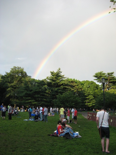 Rainbow over Celebrate Brooklyn